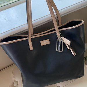 Authentic Coach Metro Park Saffiano Leather Tote